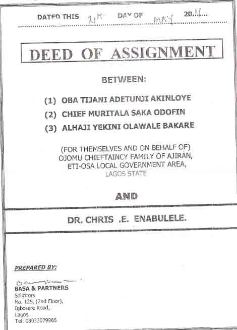 what is a deed of assignment