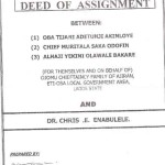 What is a Deed of Assignment and the Foolish Risk your taking for not having a Deed of Assignment for your Land