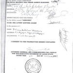 The Governor or commissioner's seal will be inserted and he or she will sign and state the date the Consent was granted. It should also include the signatures if the parties of the transaction