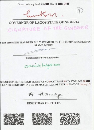 It must have the Signature of the Governor or his Representative