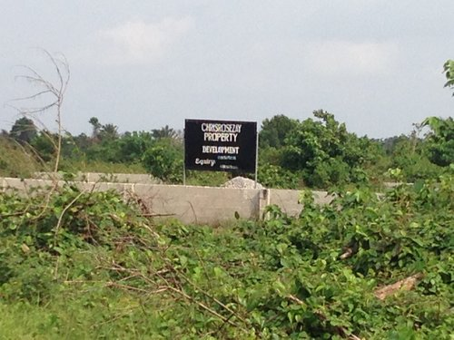 Avoid buying a Property from this area especially with lands from that Real estate company with its signboard unless you are just buying Wahala for yourself at Oko Agbon Ibeju Lekki.