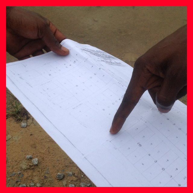 A fraudulent Surveyor that is not registered or Licenced to map out land showing me a layout of a dubious Land he wanted to sell to my client. The measurement was wrong, the layout was bad, the land was under acquisition and he had no right to sell it but he was still posing as the family Surveyor