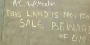 This land is not for sale